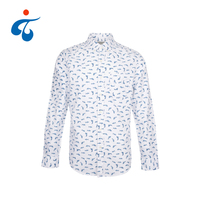 TY190412-1 Good selling latest style custom printed cotton cheap casual male shirt long sleeve